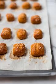 sweet potato soft pretzel bites with