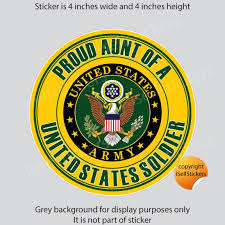 Proud Aunt Of A Us Army Soldier Car Truck Bumper Sticker Etsy