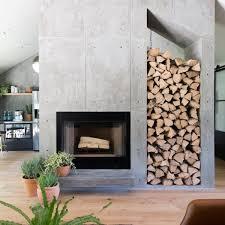 top 60 best concrete fireplace designs