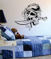 Pirate Skull With Sword Art Decal Sticker Wall Vinyl Boop Decals