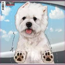 Westie Dogs On The Move Window Decal Redd Waggin Pet Treat Truck