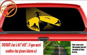 W1345 Pacman Shadow Run Funny Car Truck Decal Sticker Wrap Rear Window Perforate Ebay