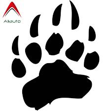 Aliauto Funny Cartoon Car Sticker Big Bear Paw Auto Styling Accessories Fashion Vinyl Decal Cover Scratches 14cm 11cm Car Stickers Aliexpress