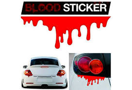 Crazy Promotion Red Blood Car Stickers Reflective Car Decals Light Bumper Body Sticker Decal Rd Wish