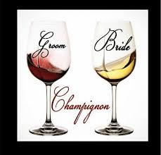Wedding Decal Vinyl Monogram For Your Wine Glass Groom Bride Gift 2 5 Decals 2 99 Picclick