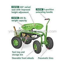 rolling garden seat cart