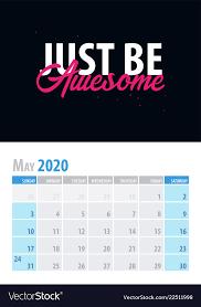 calendar planner motivational quote vector image