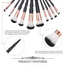 10pcs makeup brushes set synthetic hair
