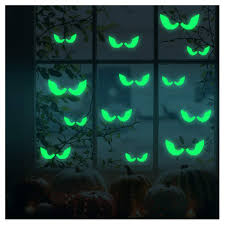 Amazon Com Luminous Sticker Proboths Creative Removable Luminous Fluorescent Sticker Glow In Dark Decal For Halloween Home Wall Window Decoration Peeping Eyes Baby