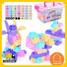 Bộ đồ chơi xếp hình lắp ráp 100 chi tiết xây dựng giúp bé phát triển khả  năng sáng tạo
