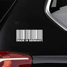 Amazon Com Iopada Car Sticker Car Decal 20cmx9cm Made In Germany Bar Code Stylish Funny Car Stickers For Car Laptop Window Sticker Home Kitchen