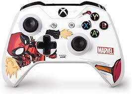 Amazon Com Skinit Decal Gaming Skin Compatible With Xbox One S Controller Officially Licensed Marvel Disney Deadpool Baby Fire Design Electronics