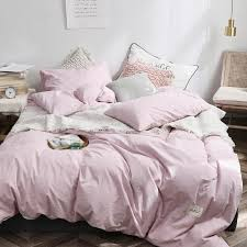 yimeis cotton bedding set pink queen