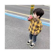 Áo sơ mi kẻ chất đẹp phong cách Hàn Quốc cho bé trai màu hot trend