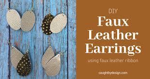 diy faux leather earrings using hobby