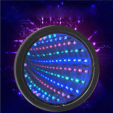 led mirror tunnel light round infinity