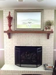 best color paint brick fireplace medium