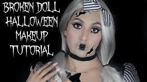 ed broken doll halloween makeup