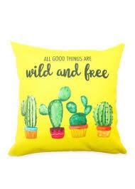 sarung bantal sofa premium x cm motif kaktus quotes bahan