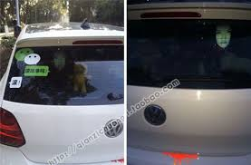 Drivers Are Using Terrifying Reflective Decals On Rear Windows To Fight Against High Beam Users Bored Panda