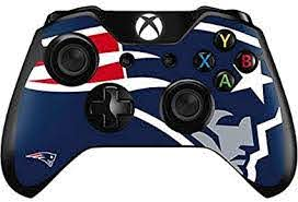 Amazon Com Skinit Decal Gaming Skin Compatible With Xbox One Controller Officially Licensed Nfl New England Patriots Large Logo Design Sports Outdoors