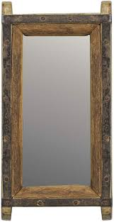 vintage wood brick mold wall mirror