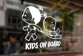 Amazon Com 25 Centimeters Kids On Board Childrens Baby Girls Vinyl Stickers Funny Decals Bumper Car Auto Computer Laptop Wall Window Glass Skateboard Snowboard Toys Games