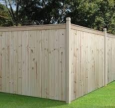 Outdoor Essential 6x8 Capped Stockade Private Fence Wood Fence Outdoor Essentials Wood Fence Design