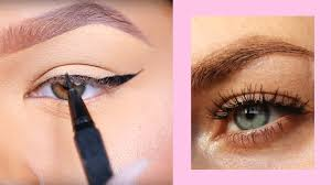 winged liner look for hooded eyes