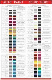 free auto paint color chart for high