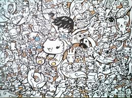 cute doodles wallpaper doodle orange