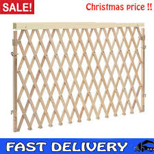 Expandable Swing Wide Gate Fence Baby Kids Child Pet Dog Safety Extra Wide Wood