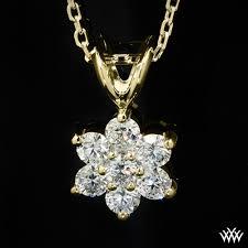 flower cer diamond pendant 693