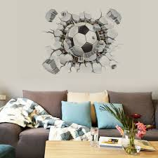 Soccer Ball Football Wall Sticker Decal Decor Sports Boy Bedroom Top For Sale Online Ebay