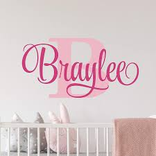 Amazon Com Name Wall Decal Sticker Custom Name Wall Decal Girls Room Boys Room Personalized Name Wall Decal Nursery Decal Baby Monogram Vinyl Wall Art Handmade