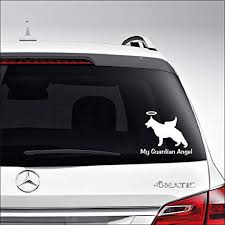 Amazon Com Aampco Decals My Guardian Angel German Shepherd Dog Car Truck Motorcycle Windows Bumper Wall Decor Vinyl Decal Sticker Size 8 Inch 20 Cm Wide Color Matte Black