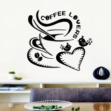 Fashionable Kitchen Coffee Wall Sticker Home Decoration For Living Room Bedroom Ebay