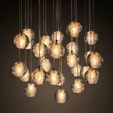 modern bubble crystal chandeliers