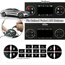 2x Replacement Ac Dash Button Repair Kit For Chevrolet Gmc Tahoe Decal Sticker For Sale Online Ebay