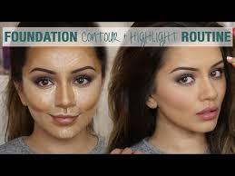 foundation contour highlight routine