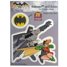 Batman The Dark Knight Returns Dynamic Duo Vinyl Decal Previews Exclusive
