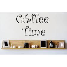 Custom Wall Decal Vinyl Sticker Coffee Time Kitchen Stylish Decor Picture Art Peel Stick Mural 12x12 Inches Walmart Com Walmart Com