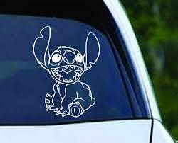 Stitch Sitting Vinyl Decal Sticker Texas Die Cuts