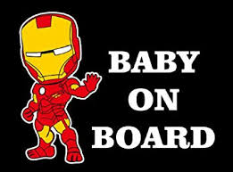 Iron Man Baby On Board Sticker Decal Baby On Board Store