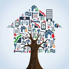 Real Estate Icons Tree House Rental Concept Sticker Wall Decals Cienpiesnf