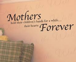 Mothers Mom Hold Children S Hearts Wall Decal Sticker K03 Printing Jay
