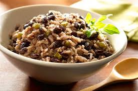 rice cooked in black beans moros y