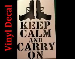 8 Keep Calm And Carry On Gun Vinyl Decal Country Hunting Etsy