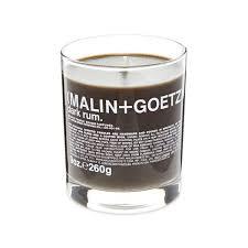 malin goetz table candle dark rum