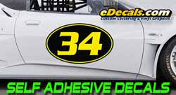 Race Car Numbering Decal Kits Magnetic Racing Numbers Edecals Com